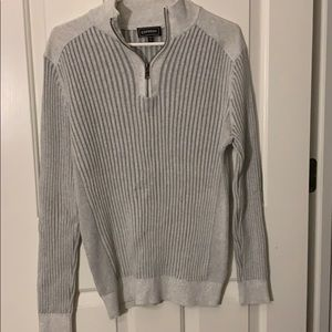 Men's Express Quarter Zip Sweater size Medium M